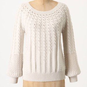 Anthropologie Purl Wise Wool Sweater by Guinevere